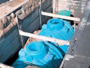 Установка пластиковых ёмкостей под септик