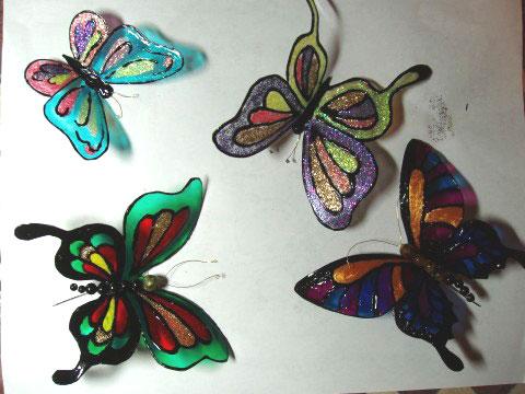 Бабочки из коробки своими руками фото 337