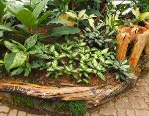 Декоративное ограждение клумбы из дерева