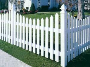 Фотографии: красивый пластиковый забор