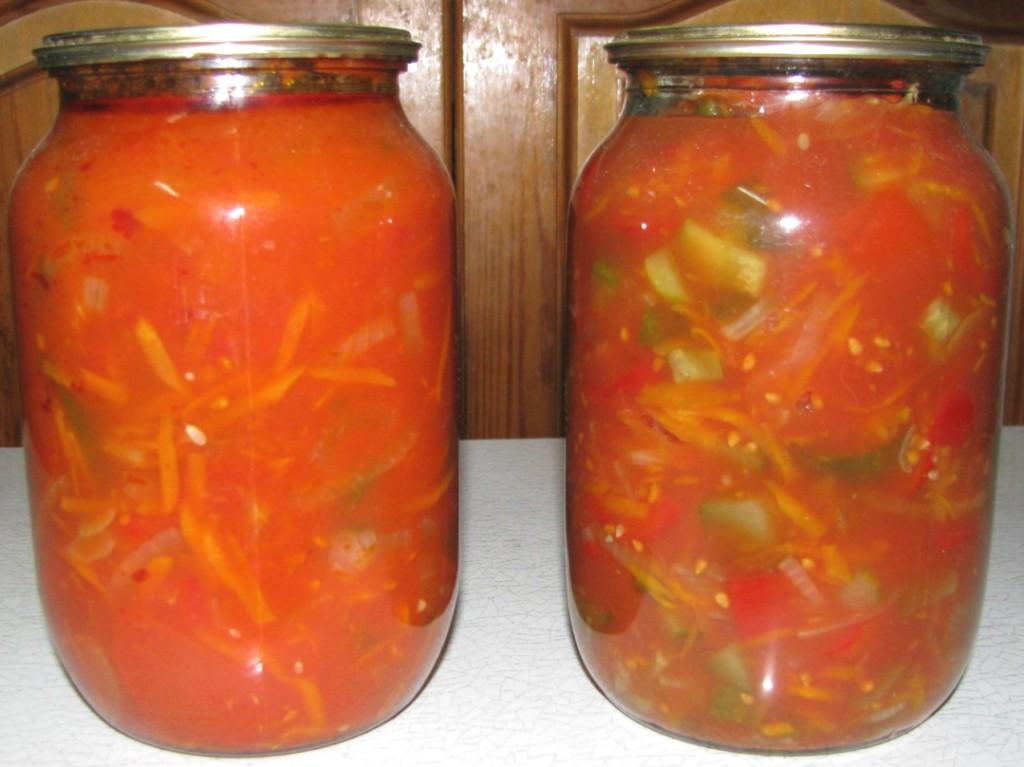 Самый вкусный салат из овощей на зиму