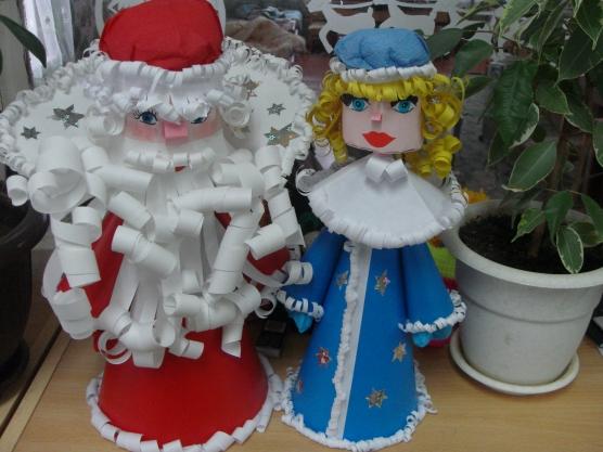 Дед Мороз из бумаги своими руками.