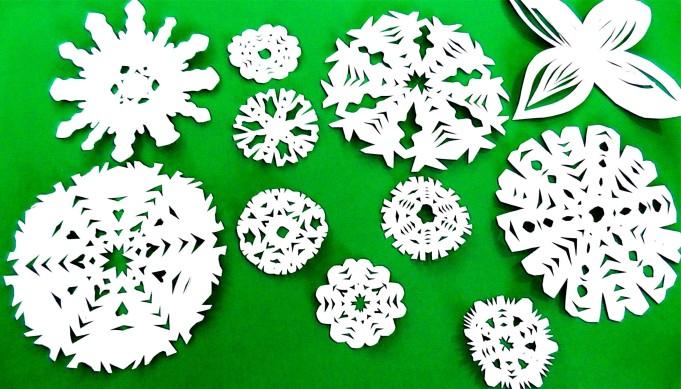 Простые снежинки своими руками на Новый год 2017