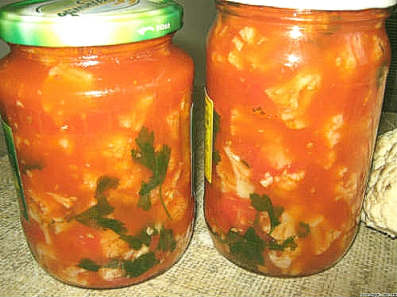 Рецепт с фото: Салат с цветной капустой на зиму