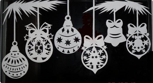 Картинки для вырезания на окна на Новый год 2017