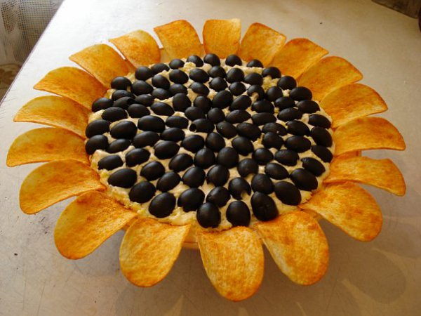 Салат Подсолнух: рецепт с фото.