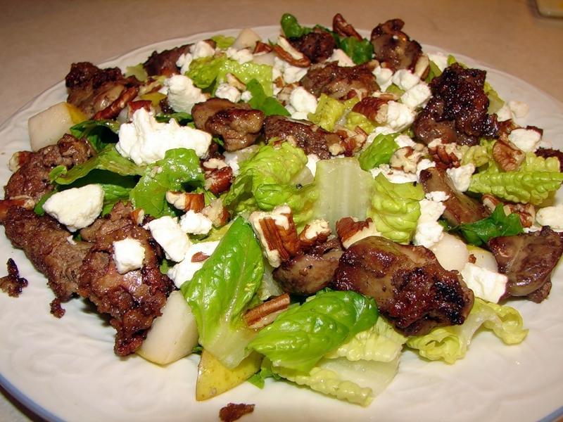 Салат из куриной печени по-особому с фото.