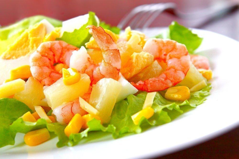 Салат из морепродуктов «Жители океана».