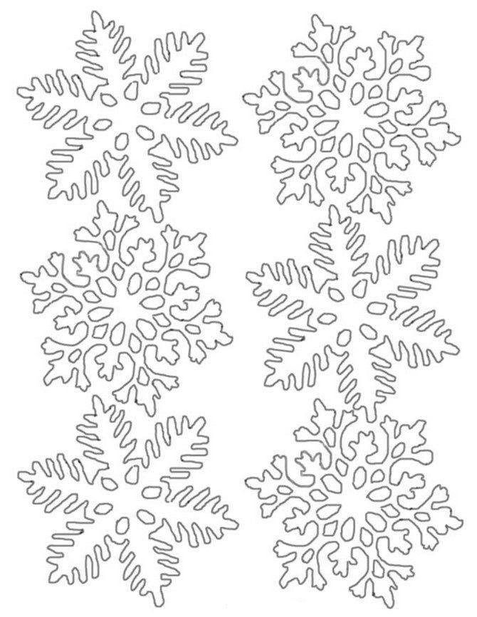 Шаблоны, для вырезания на окно – снежинки