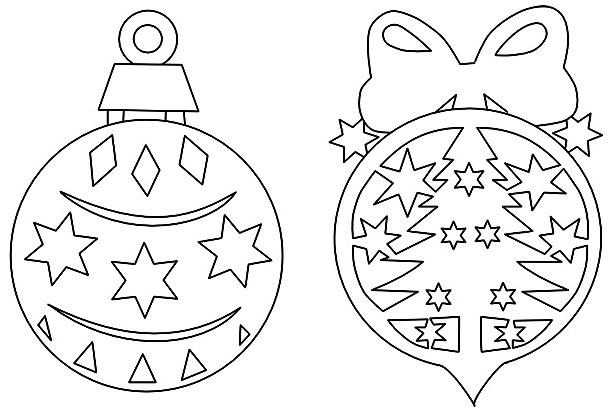 Шаблоны – новогодние шарики.