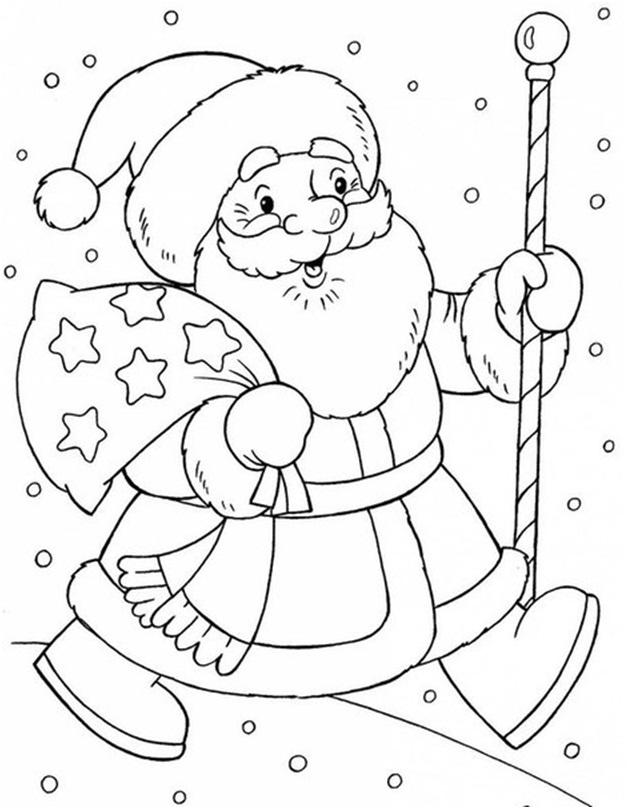 Шаблоны – Дед Мороз со своей внучкой Снегурочкой.