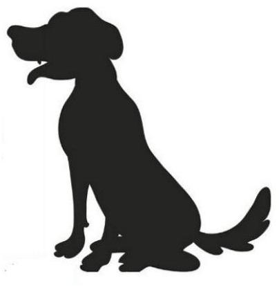 Шаблоны – Собака, символа Нового 2018 года.
