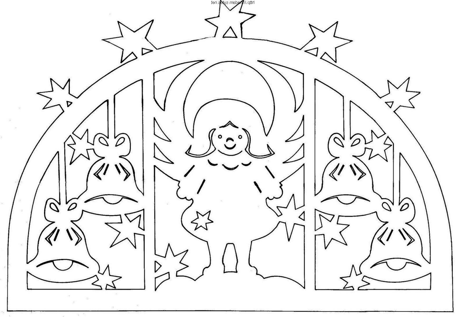 Трафареты картинок на новый год на окно