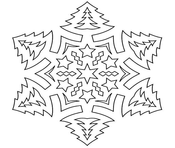 Шаблоны, для вырезания на окно – снежинки.