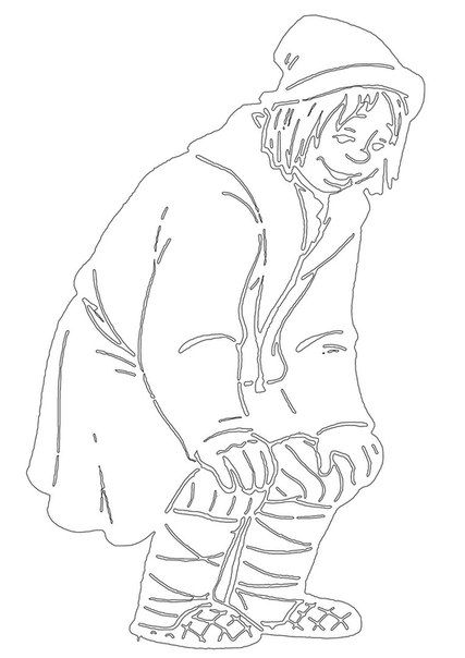 Шаблоны – сказочные герои для вырезания на окно