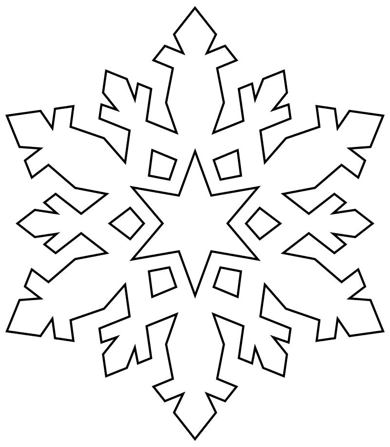 Трафарет снежинки картинка