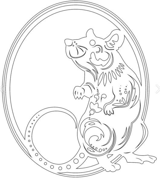 Шаблоны с символом года 2020 - Крысой и Мышками