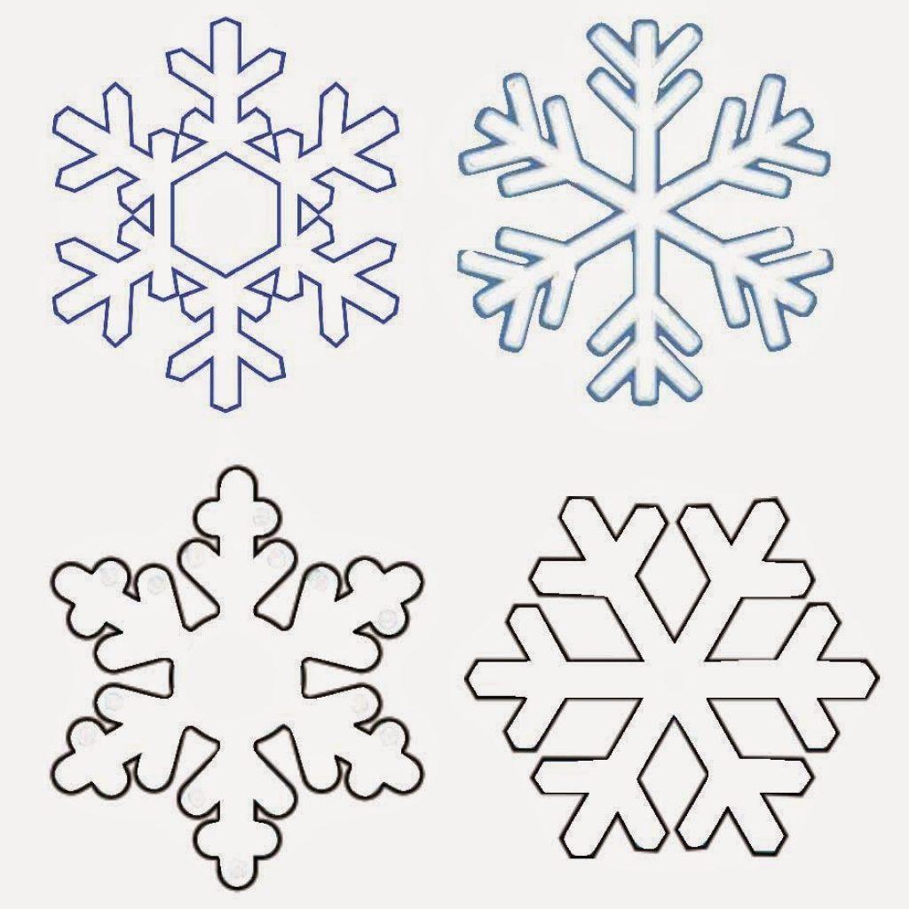 картинки снежинок для распечатки и вырезания