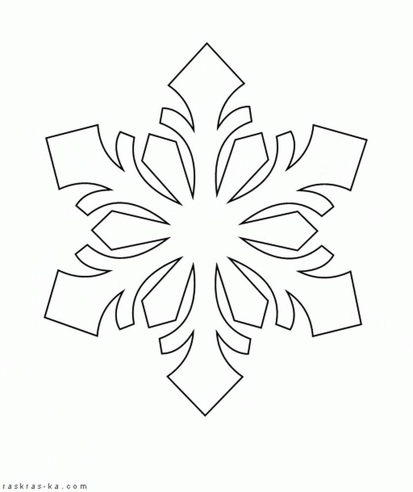 Вытынанки на Новый год 2018: снежинки.