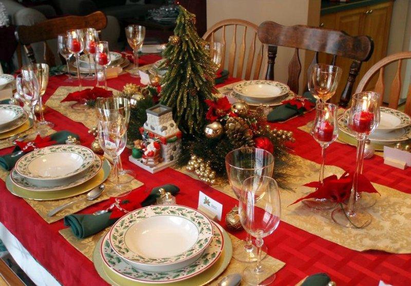 Сервировка и оформление стола на Новый год 2018.