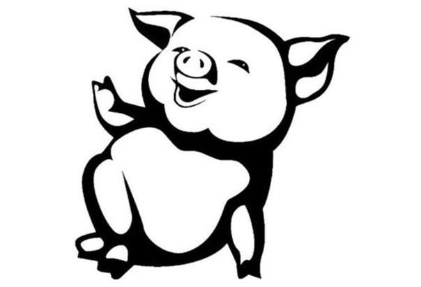 Шаблоны на Новый год Свиньи 2019 для вырезания на окно: картинки