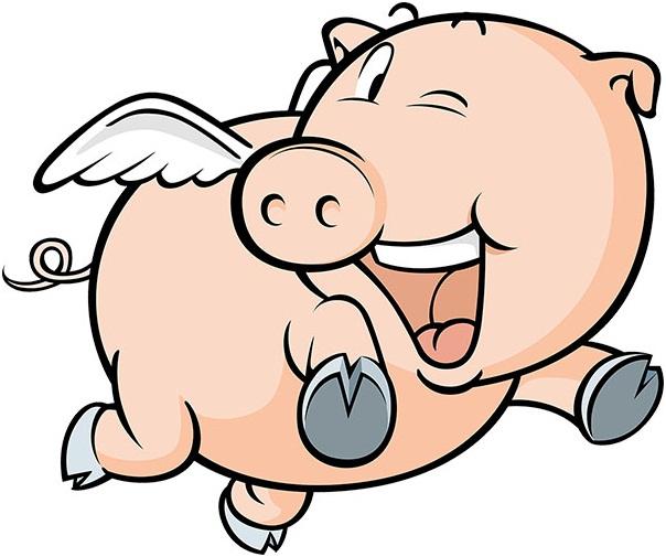 Красивые шаблоны для вырезания на окно на Новый год 2019: свинья (кабан) – символ года