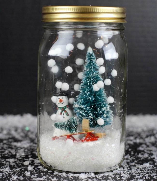 Снежный шар из стекла: инструкция изготовления в год Свиньи