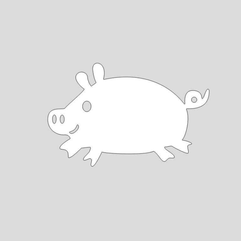 Смешная свинка картинка на окно, прикольные новинки