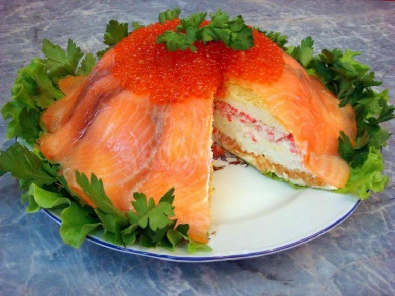 дерево рыбный торт рецепт с фото из семги раз один человек