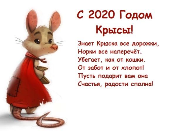 Поздравления с Новым годом Крысы 2020 в картинках