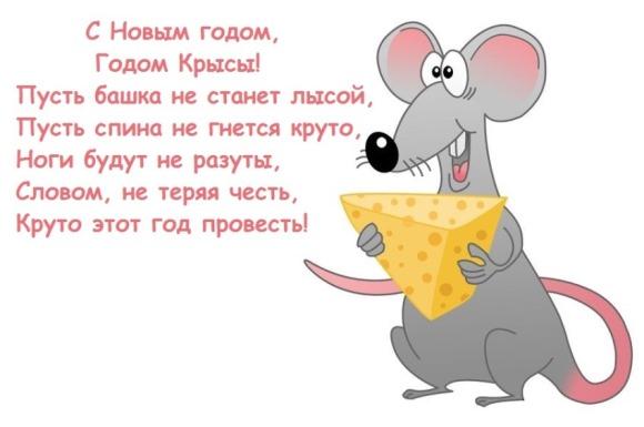 Поздравления с Новым годом Крысы в картинках