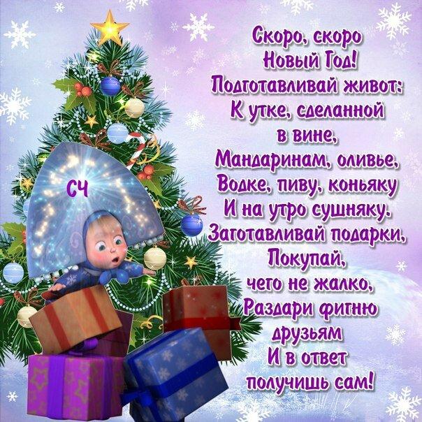 Новогоднее поздравления в стихах прикольные