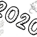 Новогодние раскраски на год Крысы 2020