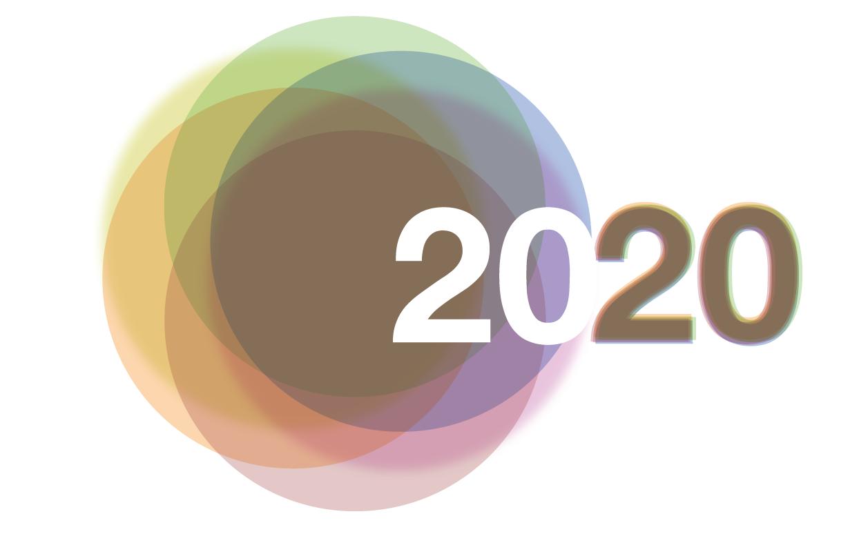 """Шаблоны надписей """"2020"""""""