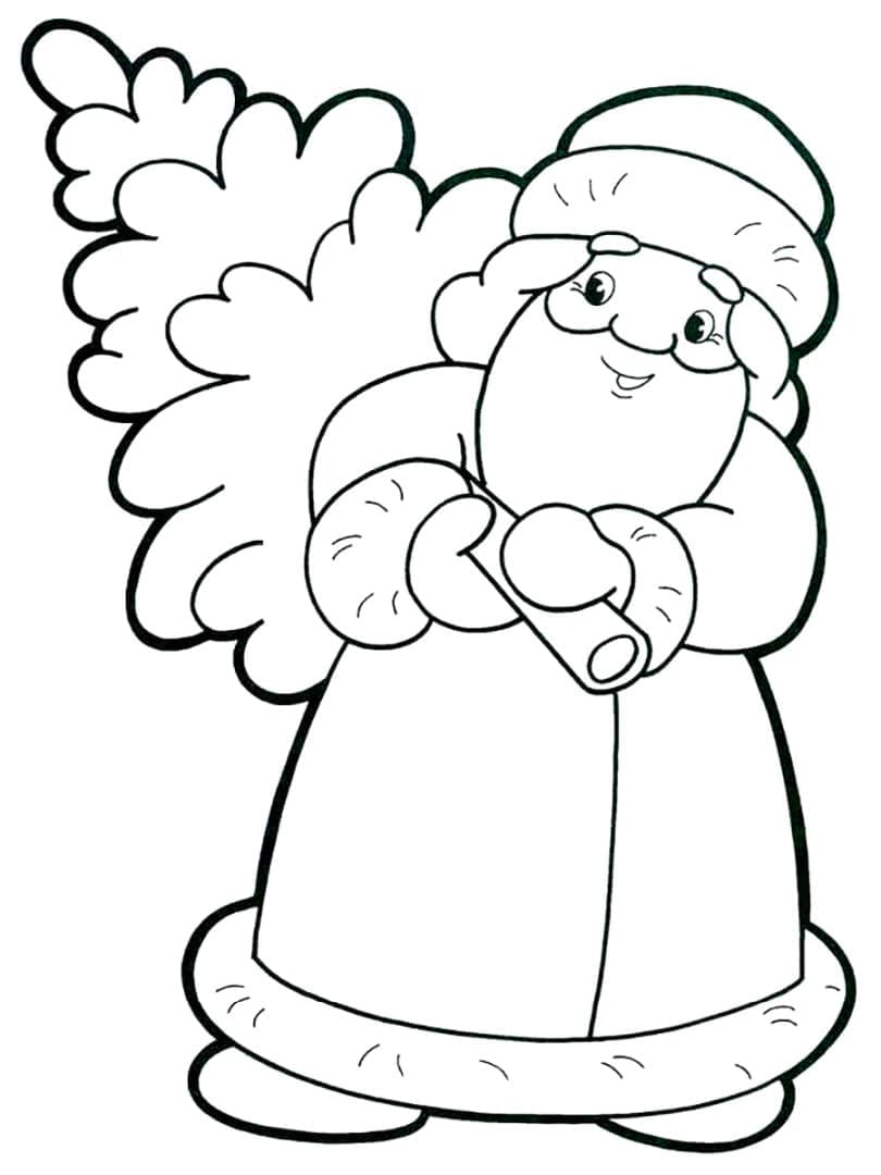 Дед Мороз с ёлкой