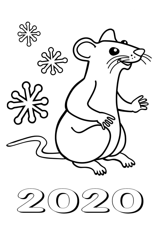 Новым годом Крысы 2020 в стихах и открытках - Картинки с Крысой шуточные.