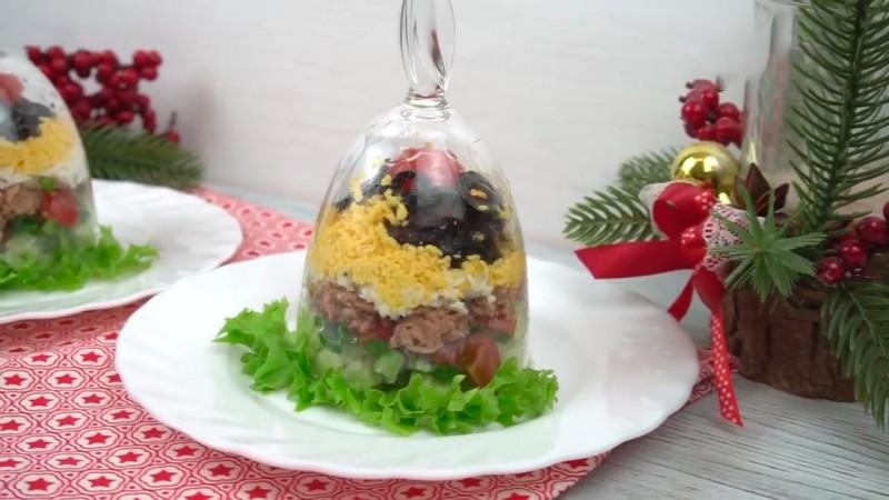 Интересный салат в бокале