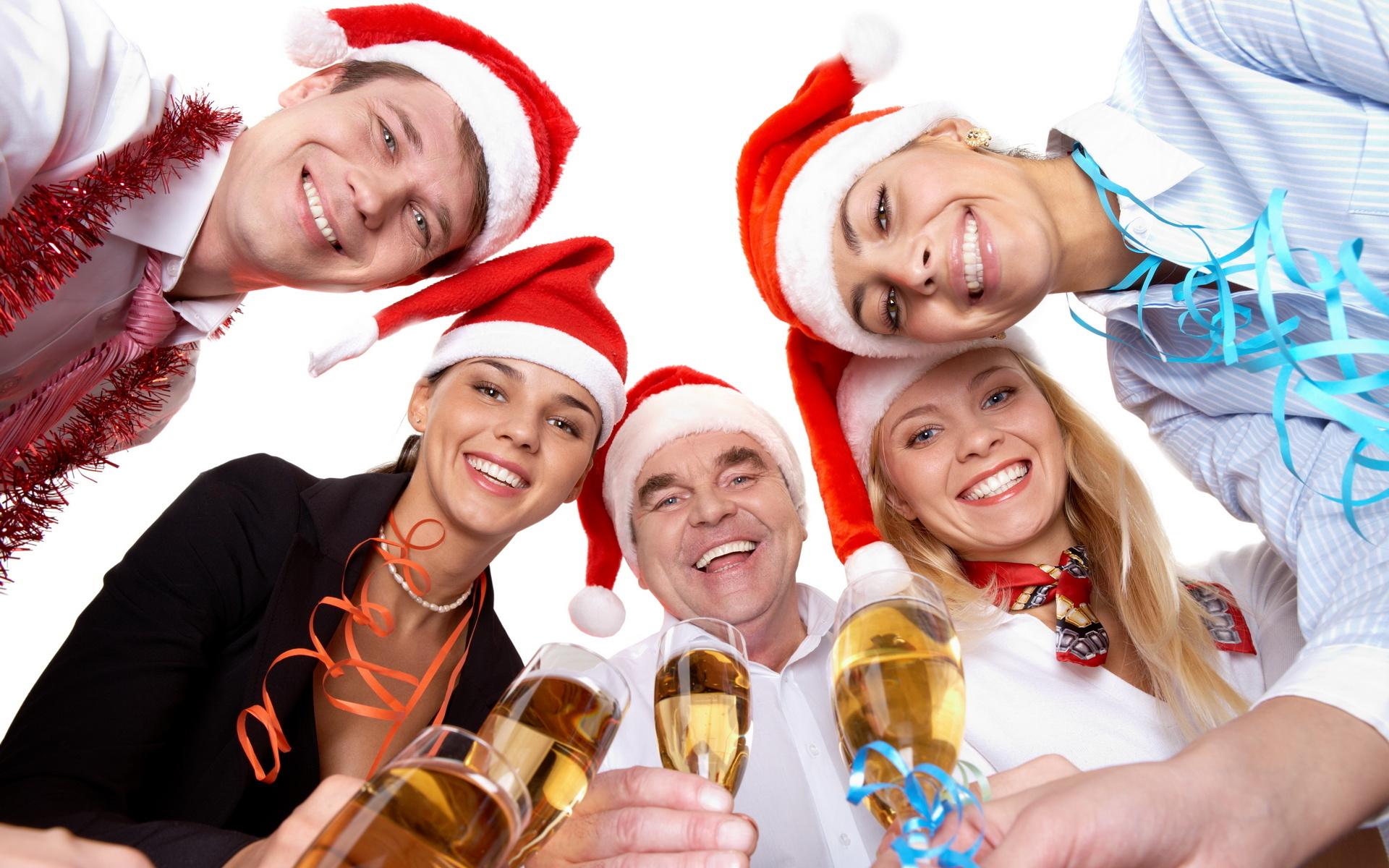 Прикольные застольные поздравления с новым годом