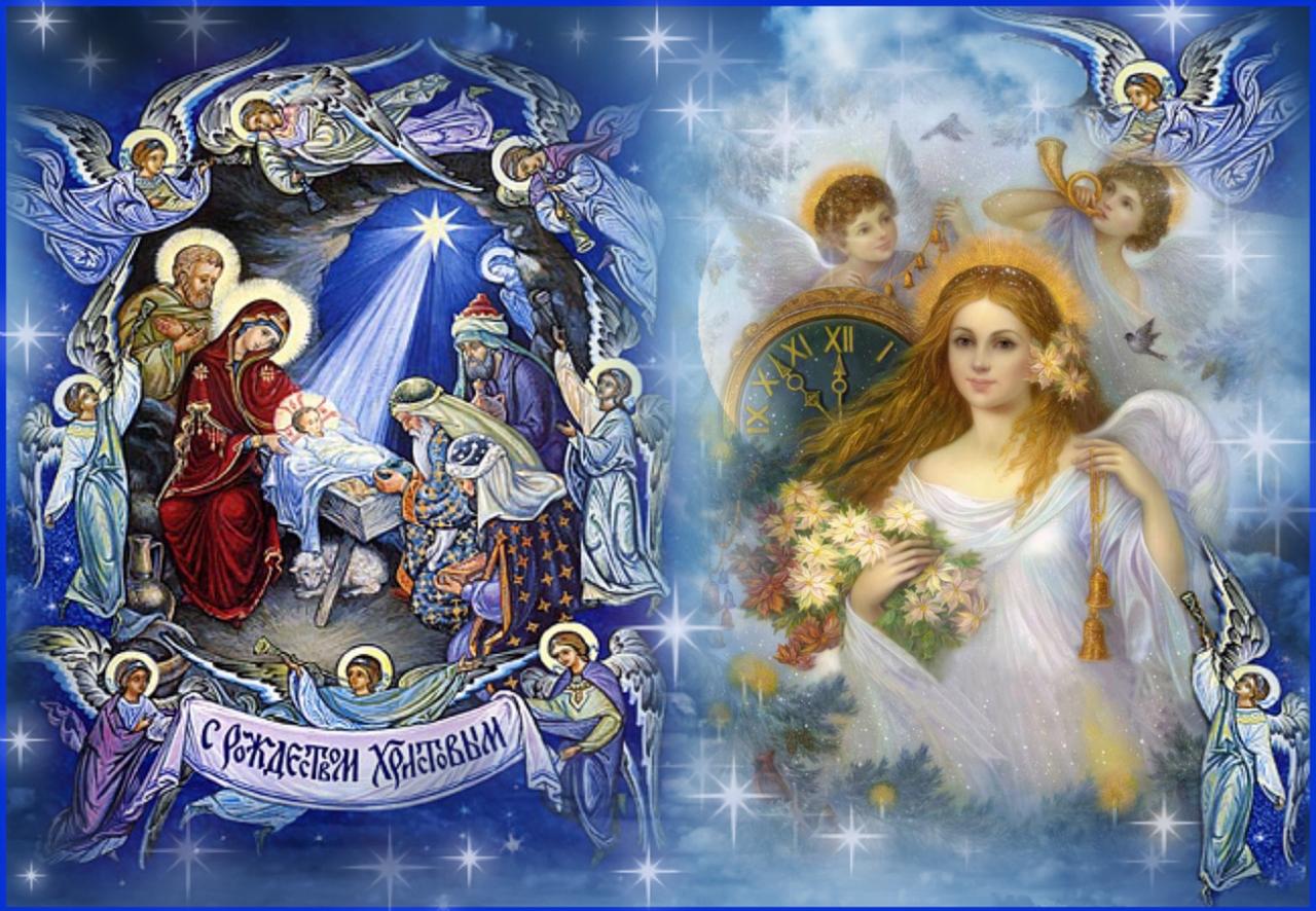 Широкоформатные картинки на Рождество Христово 2020