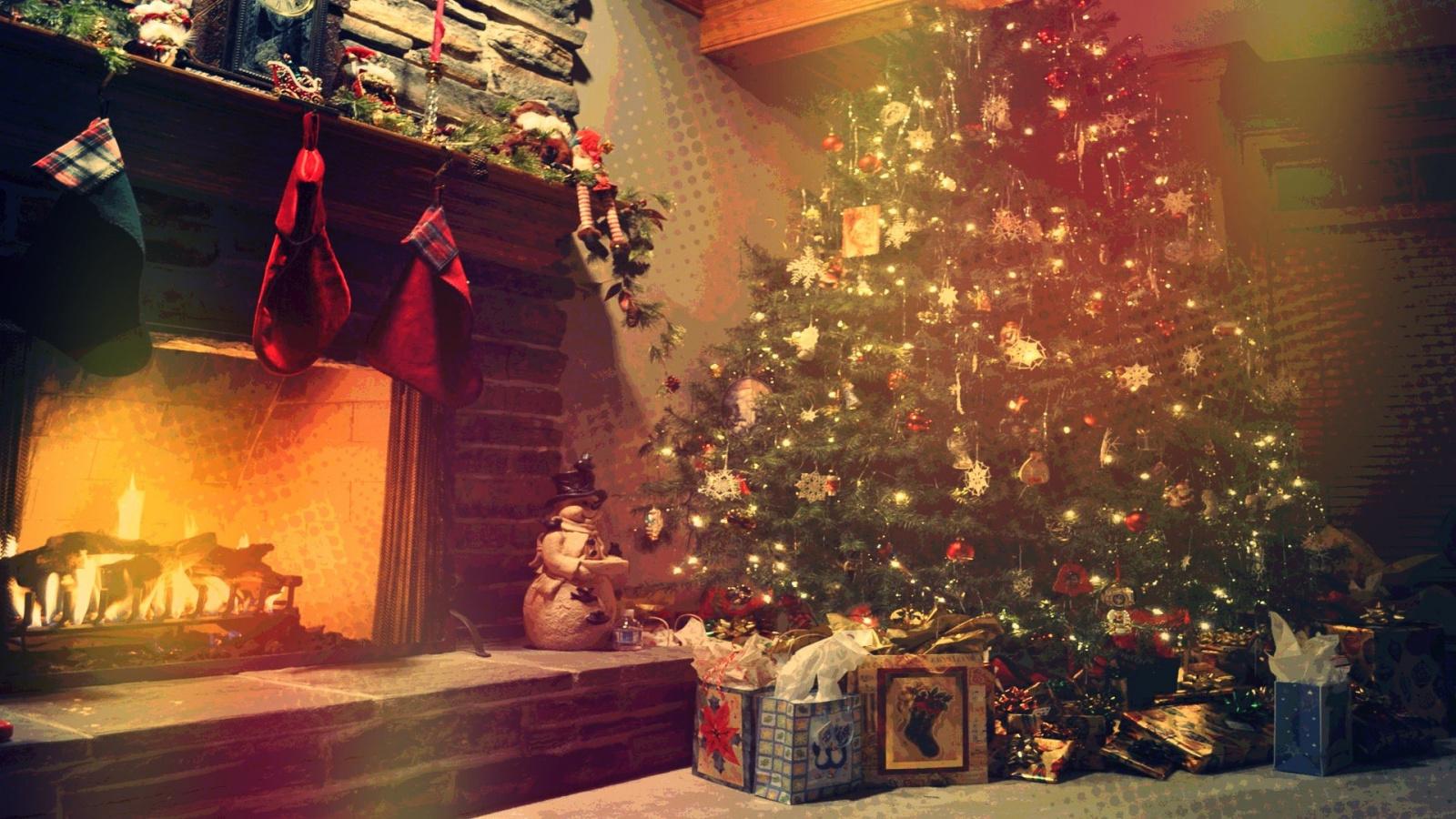 Новогодние картинки для рабочего стола елка