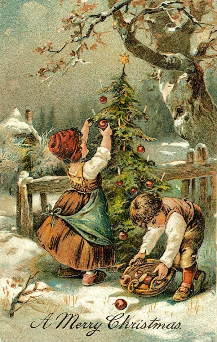 Поздравительные рождественские открытки 2020