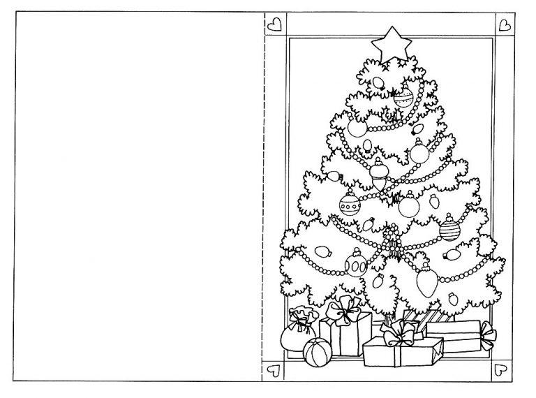 Шаблон рождественских открыток