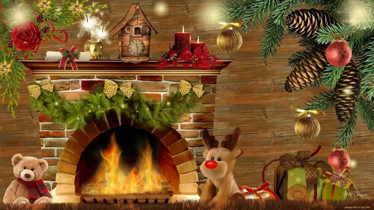 Рождество обои и картинки на рабочий