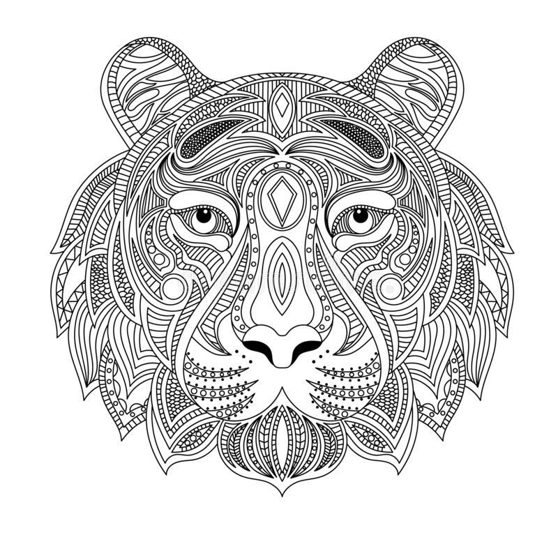 Новогодние раскраски на год Тигра 2022