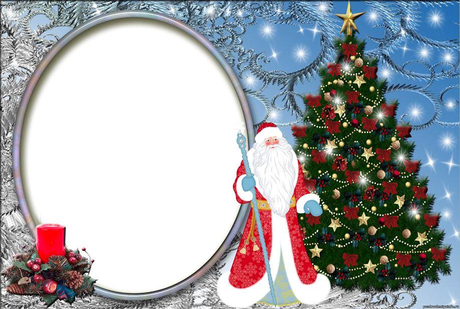 Новогодние шаблоны и открытки фотошоп