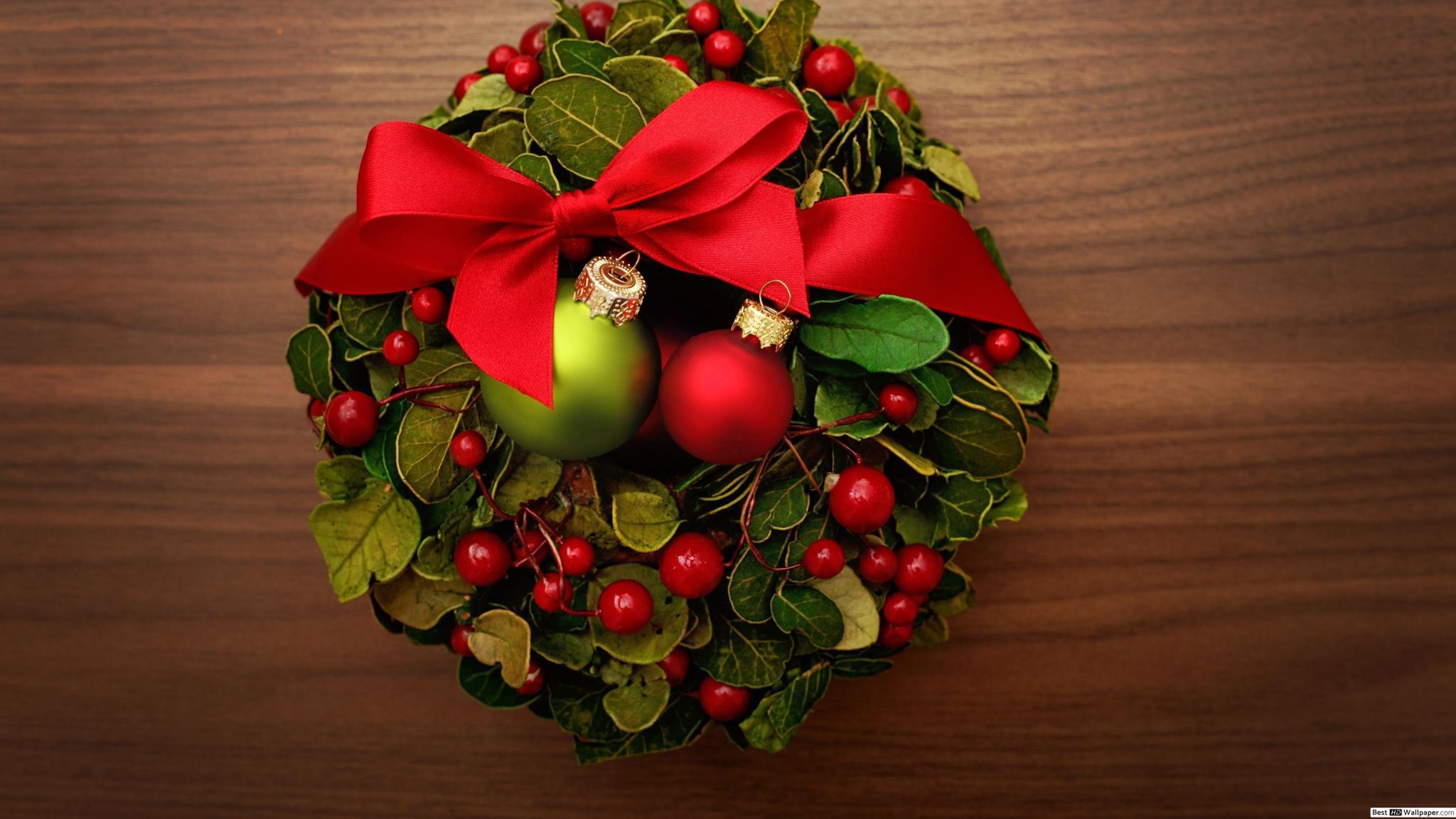 Рождественские венки на рабочий стол