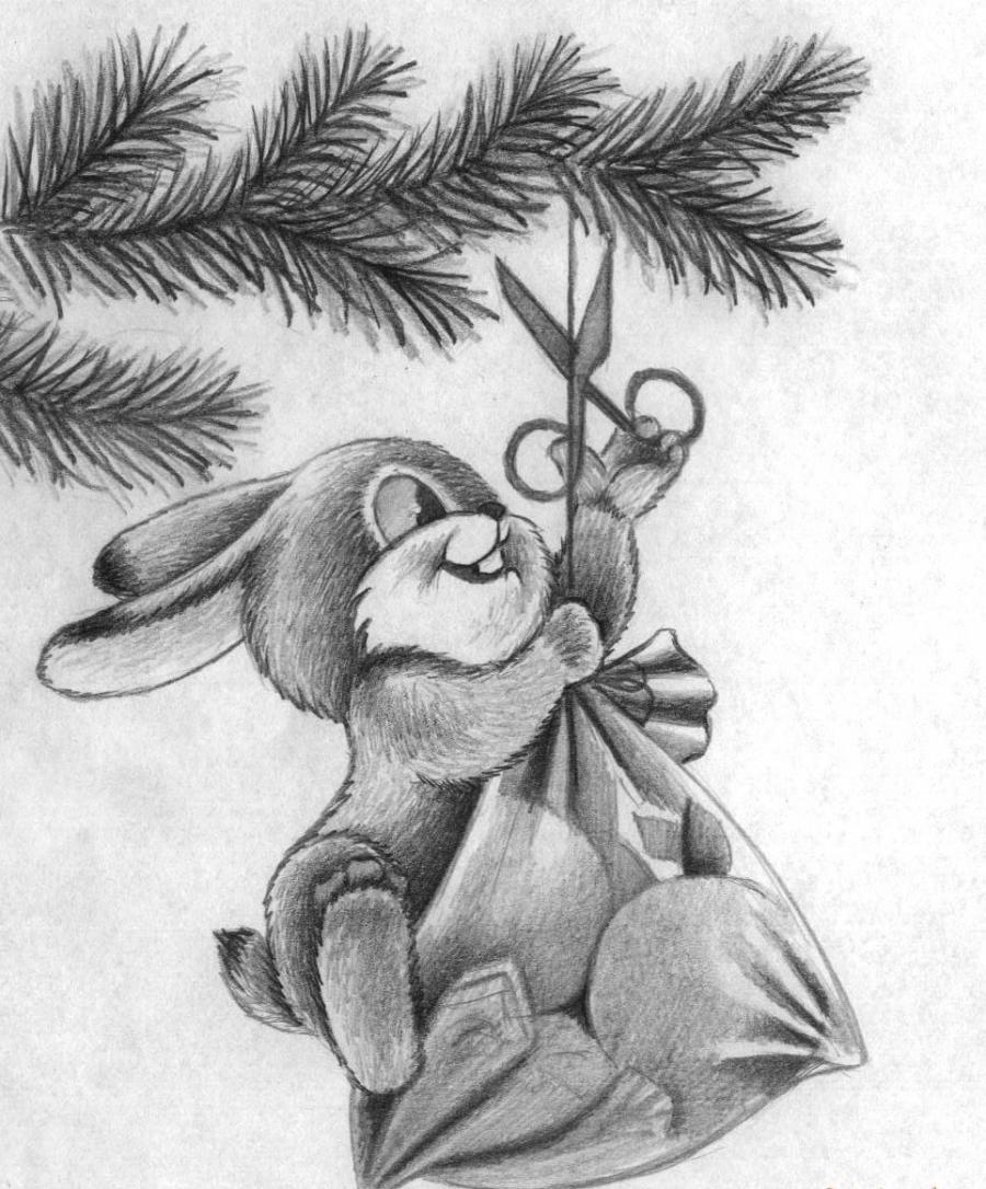 Как красиво нарисовать новогоднюю картинку