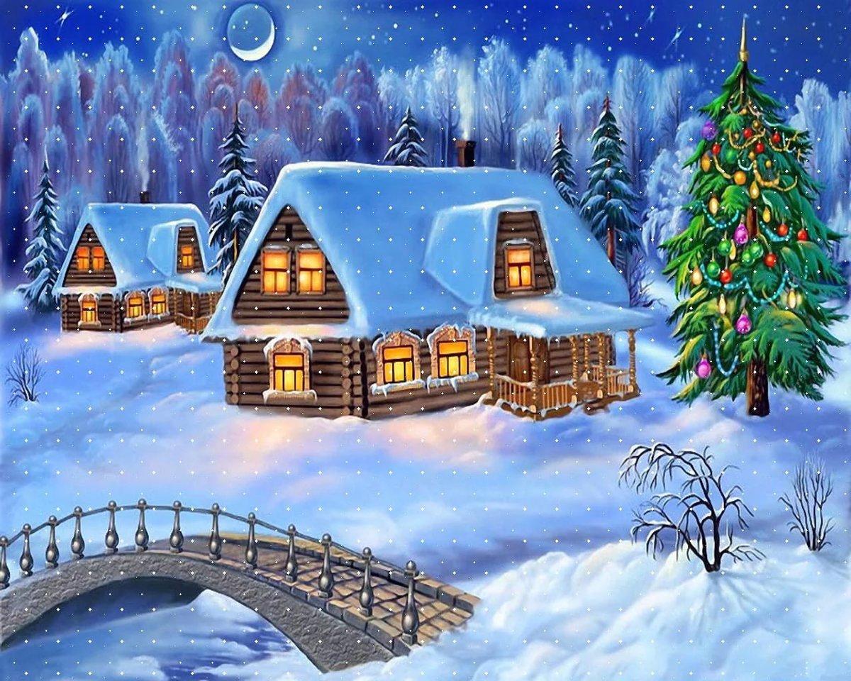 рисунок на новый год картинки днем святого