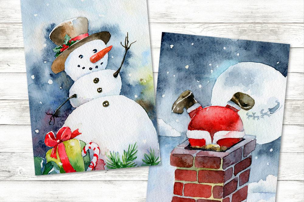 Рисовать новогоднюю открытку 2 класс