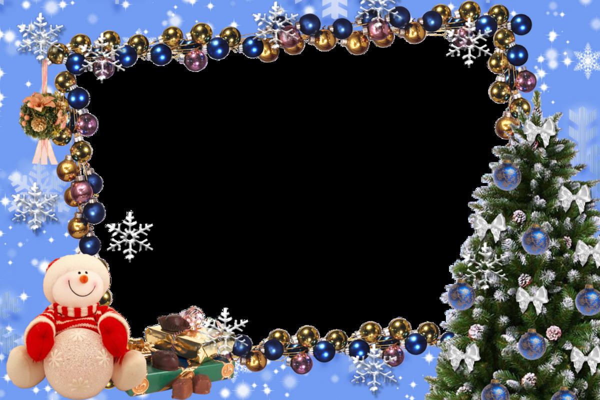 Детские рамки для фотошопа на Новый год